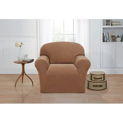 Box Cushion Armchair Slipcover Color: Sand