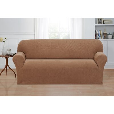 Box Cushion Sofa Slipcover Color: Sand