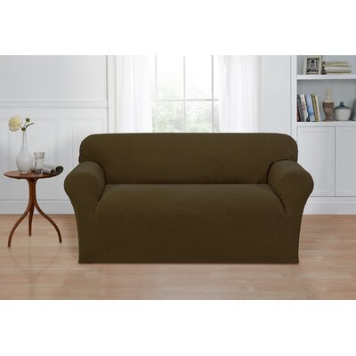 Box Cushion Loveseat Cover Color: Sage