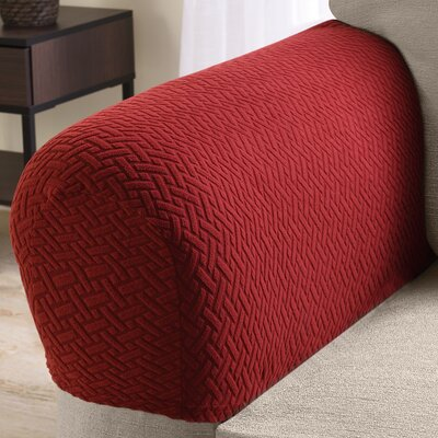 Box Cushion Armchair Slipcover Color: Brick