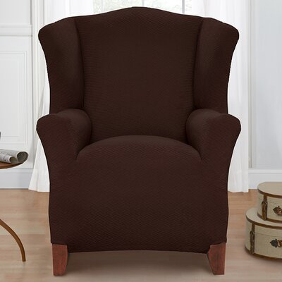 Solid Armchair Cover Color: Chocolate