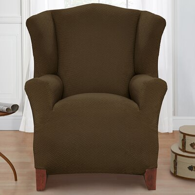 Solid Armchair Cover Color: Sage