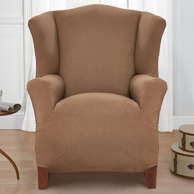 Solid Armchair Cover Color: Sand