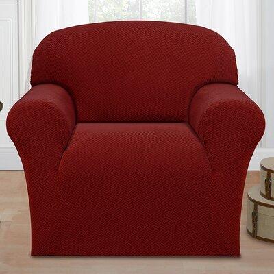Box Cushion Armchair Slipcover Color: Brick