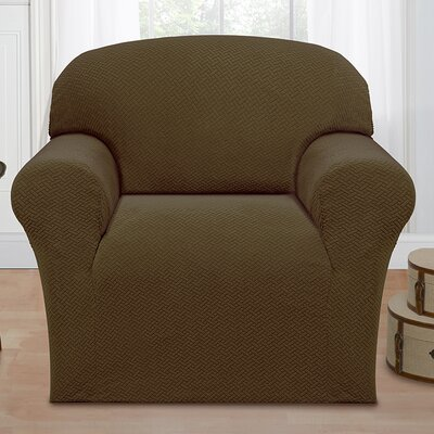Box Cushion Armchair Slipcover Color: Sage