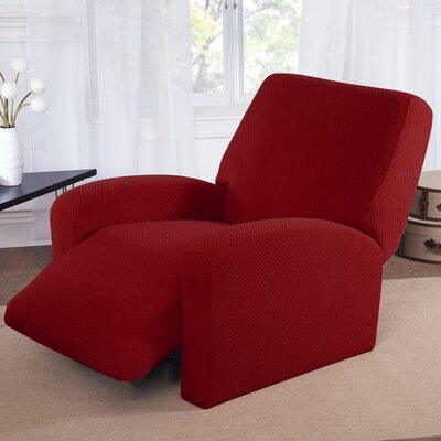 Box Cushion Recliner Slipcover Color: Brick