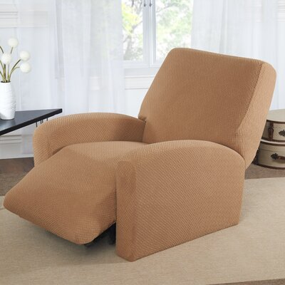 Box Cushion Recliner Slipcover Color: Sand