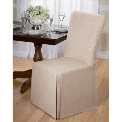 Cotton Dining Chair Slipcover Upholstery: Tan