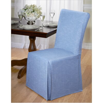 Cotton Dining Chair Slipcover Upholstery: Blue