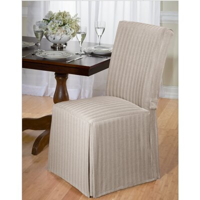Dining Chair Slipcover Upholstery: Tan