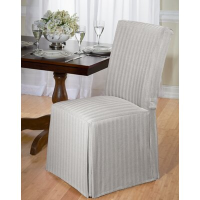 Dining Chair Slipcover Upholstery: Grey