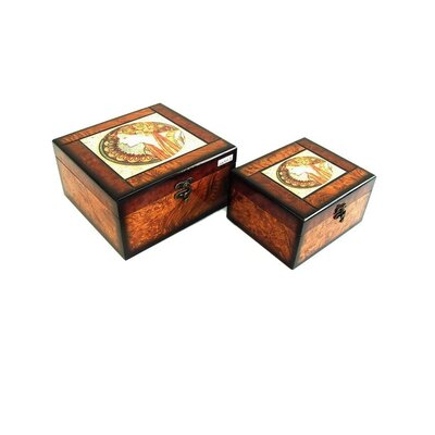 Keystone Intertrade Inc. Decorative Jewelry Box with Greek Queen Design (Set of 2) at Sears.com