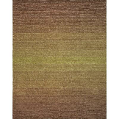 Artistry Beige/Green Center Line Stripe Rug Rug Size: 8 x 10