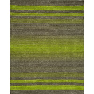 Artistry Stripe Gray/Green Area Rug Rug Size: 8 x 10