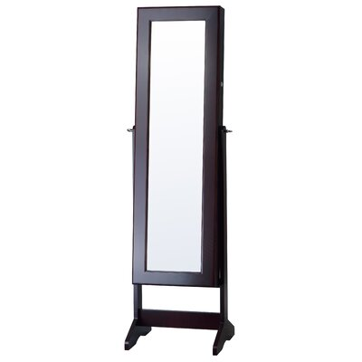 Cheval Jewelry Armoire with Mirror Finish: Espresso