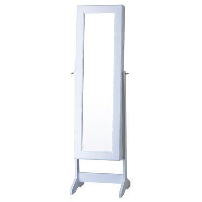 Cheval Jewelry Armoire with Mirror Finish: White