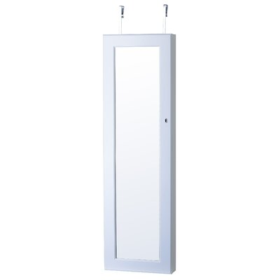 Callihan Over The Door Jewelry Armoire with Mirror Finish: White