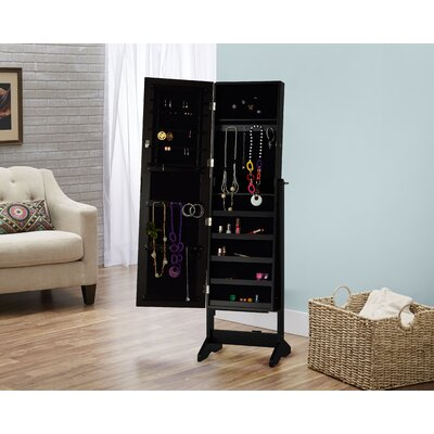 Cheval Jewelry Armoire with Mirror
