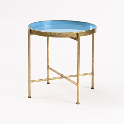 Gild Pop Up Tray End Table Finish: Blue