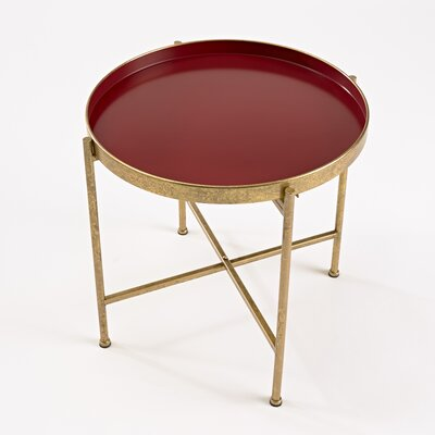 Gild Pop Up Tray End Table Finish: Red
