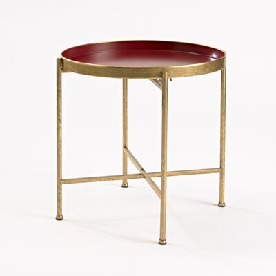 Gild Pop Up Tray Table Color: Red