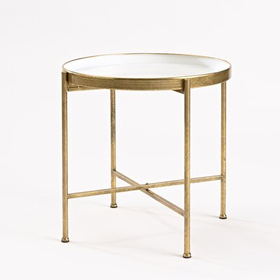 Gild Pop Up Tray Table Color: White