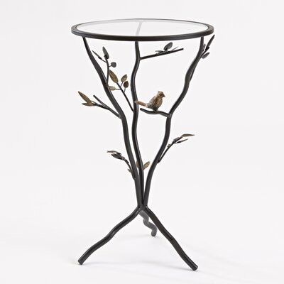 Glass Bird Table with Removable Glass Top