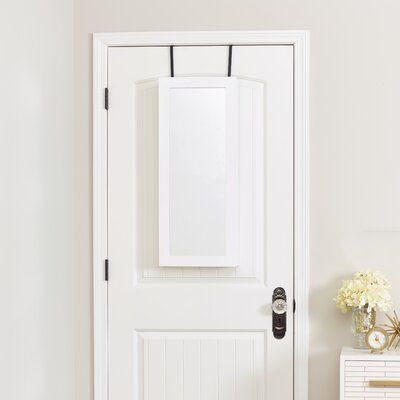 Space Saver Over the Door Jewelry Armoire with Mirror Color: White