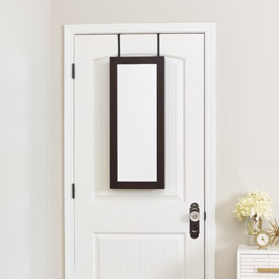Space Saver Over the Door Jewelry Armoire with Mirror Finish: Espresso