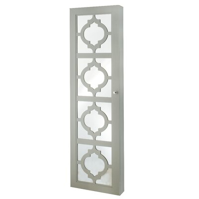 Gaunt Over The Door Jewelry Armoire with Mirror Color: Gray