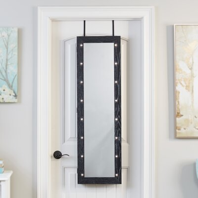 Ola Over The Door Jewelry Armoire with Mirror Finish: Black