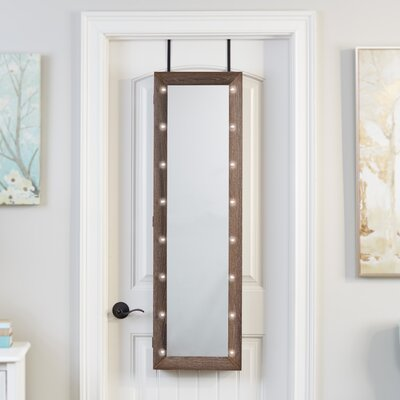 Ola Over The Door Jewelry Armoire with Mirror Finish: Espresso