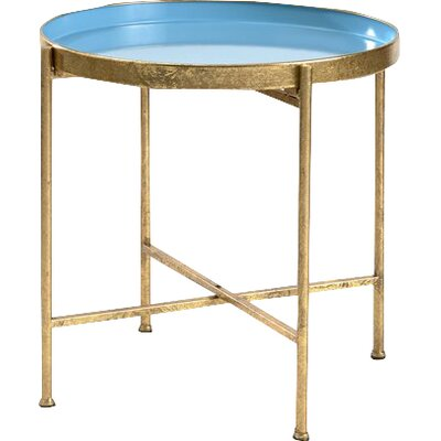 Gild Pop Up Tray Table Color: Blue