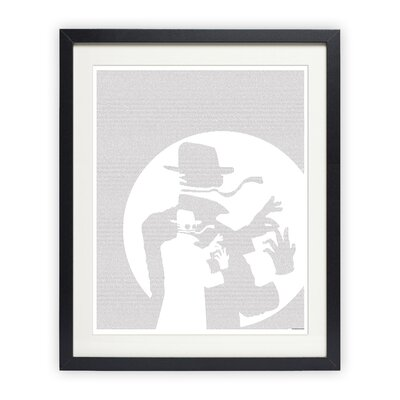The Invisible Man Framed Graphic Art PTX0059-BW-P