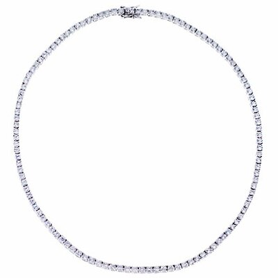 Sterling Silver Bridal Tennis Necklace