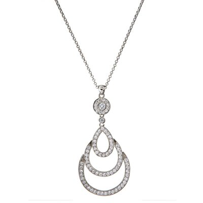 Diamond Teardrop Bridal Pendant