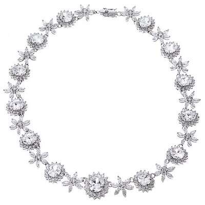 Cubic Zirconia Magnificent Bridal Diamond Necklace
