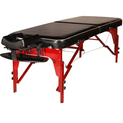 Monroe Portable Massage Table Color: Black Luster