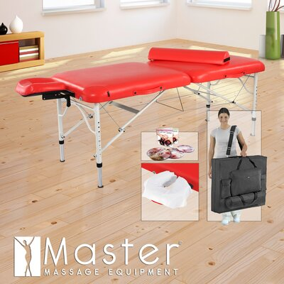 Calypso LX Ultra Light Massage Table Color: Lipstick Red