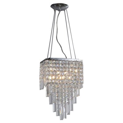Eve Beaded 4-Light Crystal Chandelier
