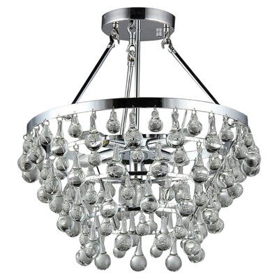Grand 5-Light Crystal Chandelier
