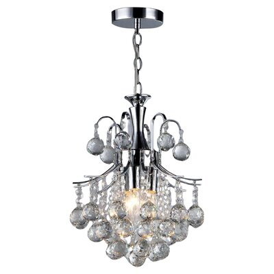 Arden Victorian 3-Light Crystal Chandelier
