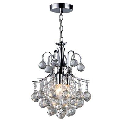 Arden Victorian 3-Light Crystal Chandelier