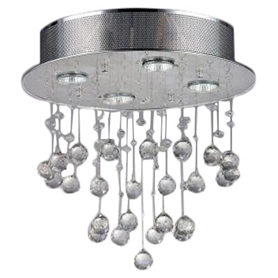 Karole 4-Light Crystal Flush Mount