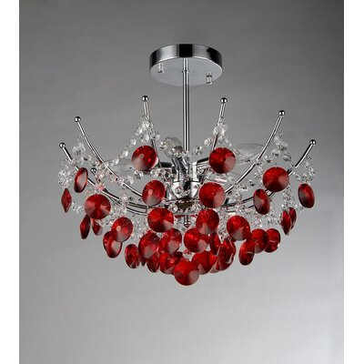 Roses 3-Light Crystal Chandelier