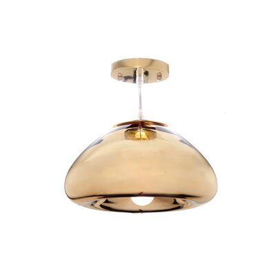 1-Light Bowl Pendant Finish: Gold