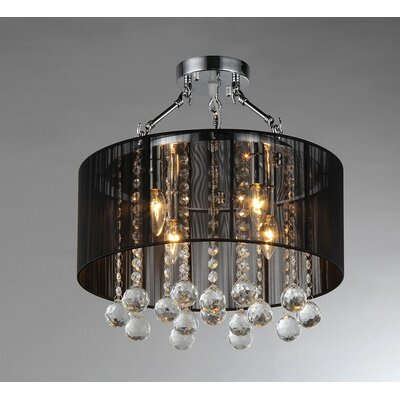 Tiara 3-Light Crystal Chandelier