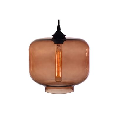 Xavier 1-Light Mini Pendant Shade Color: Brown