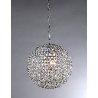 Prometheus 4-Light Crystal Chandelier