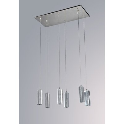 Pyramid 6-Light LED Cascade Pendant